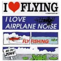 I LOVE FLYING/BUMPER STICKER