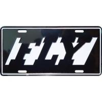 LICENSE PLATE/FLY/DESIGN 30395