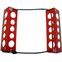 "TRAVEL CHOCKS/8""/Red. Heat-treated, powder coat finish. Large for wheel 6.600 and over."