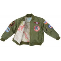 MA1 JACKET Green or pink with patches KIDS