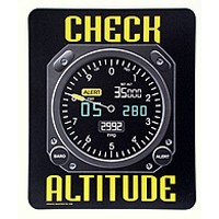 MOUSE PAD/CHECK ALTITUDE