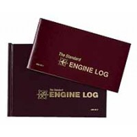 MAINT ENGINE LOG/HARD/BURGUNDY