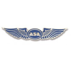 ASA LAPEL PIN/SILVER ON BLUE